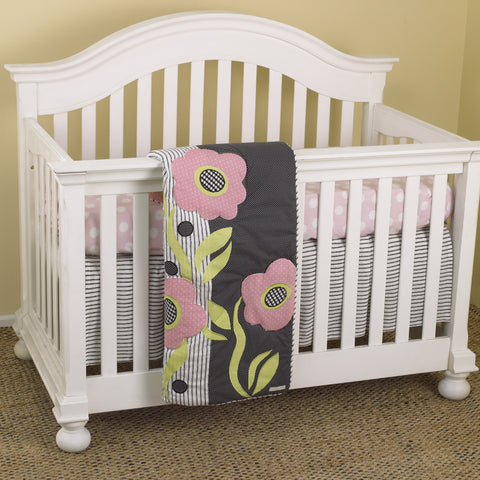 Poppy 3pc Crib Bedding Set