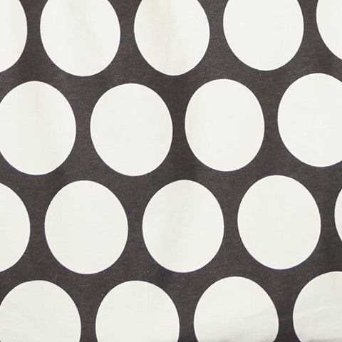 Rasberry Dot Brown & Cream Polka Dot Fabric - 3 yds.
