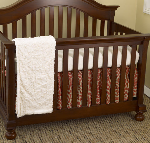 Raspberry Dot 3pc Crib Bedding Set