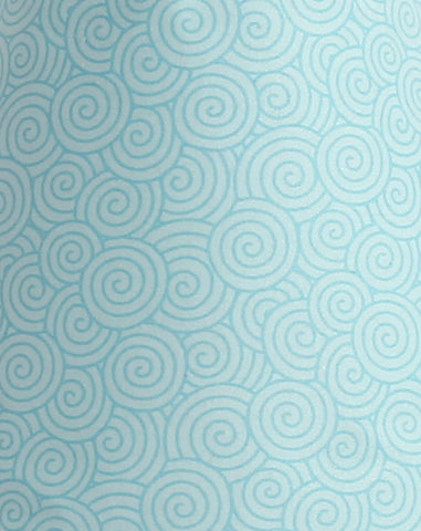 Scribbles Blue Swirl Fabric - 3yds