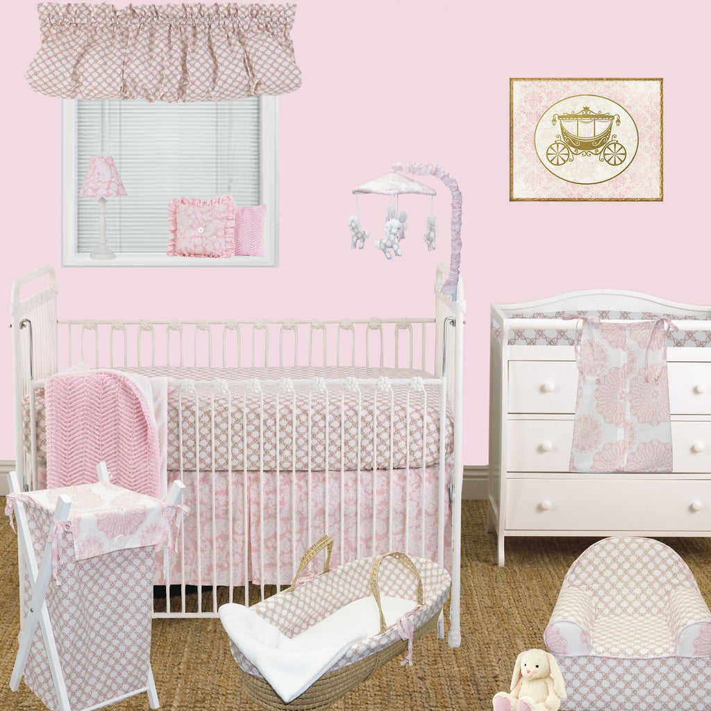Floral Crib Bedding Set Sweet and Simple 7 PC Set Collection