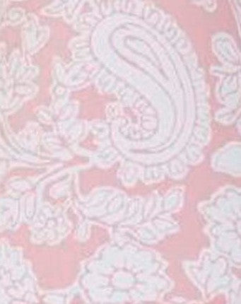 Sweet & Simple Pink Floral Paisley Fabric - 3 yds.