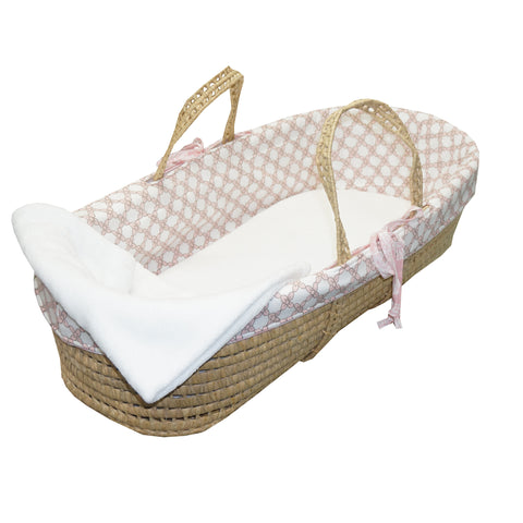 Pink Moses Basket Sweet and Simple