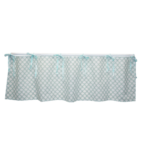 Nursery Valance Sweet and Simple Aqua/Blue Collection