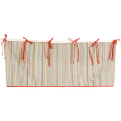Stripe Window Valance, Neutral Nursery Valance.