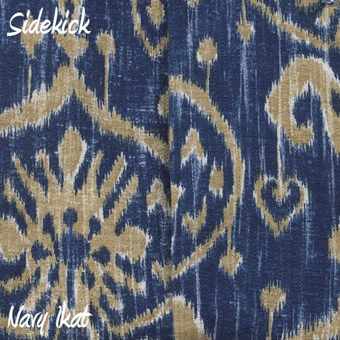 Sidekick Navy Ikat Fabric - 3yds.