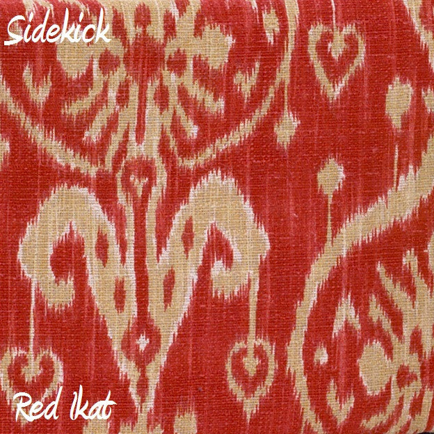 Sidekick Red Ikat Fabric - 3yds.