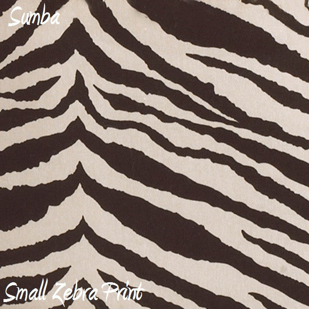 Sumba Small Zebra Print Fabric - 3yds.