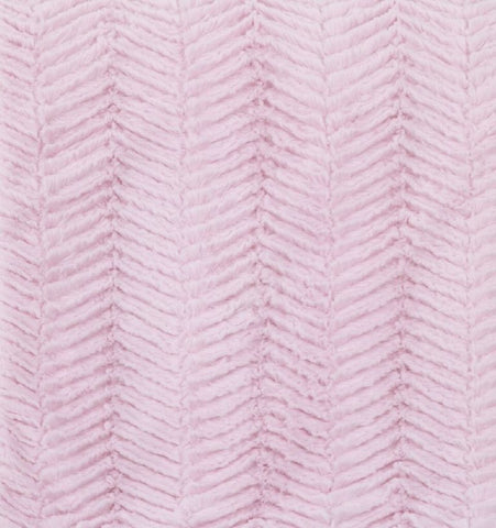 Sweet and Simple Pink Chevron Cuddle Minky