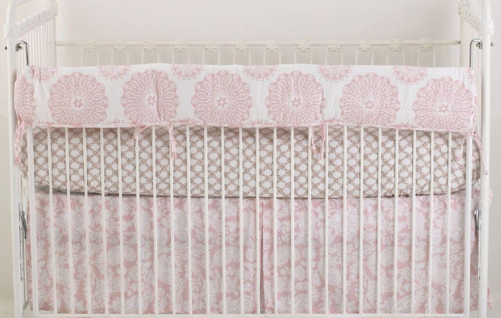 Pink bedding baby bedding nursery bedding crib sets cotton pink floral crib bedding set sweet and simple pink collection mightylinksfo