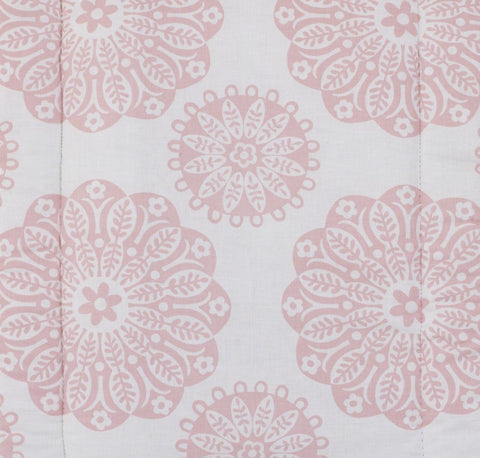 Sweet and Simple Pink Medallion Fabric
