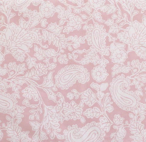 Sweet and Simple Pink Paisley Floral Fabric