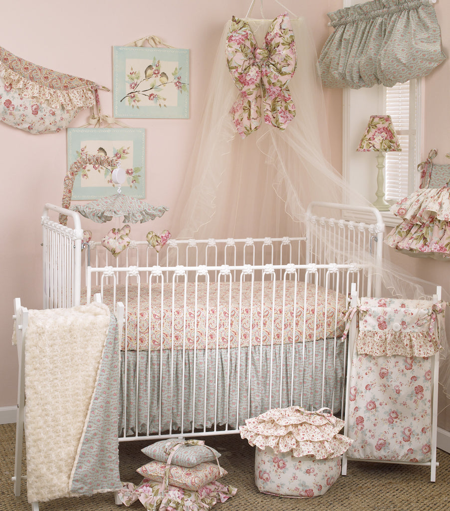 Cotton Tale Designs Tea Party 7pc crib bedding set