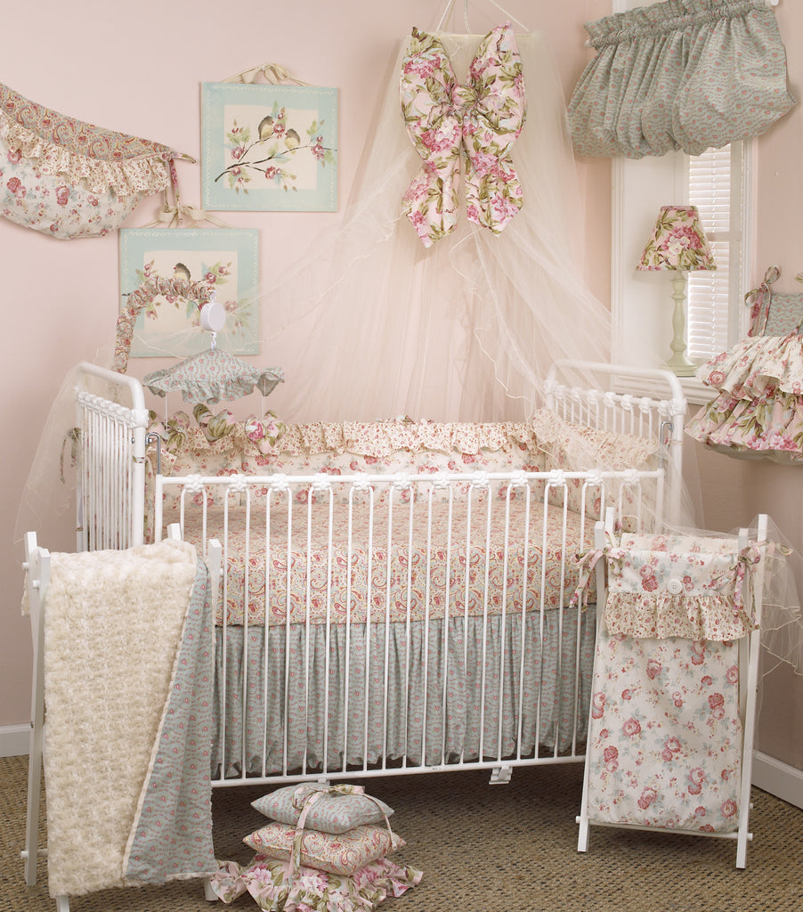 Cotton Tale Designs Tea Party 8pc crib bedding set