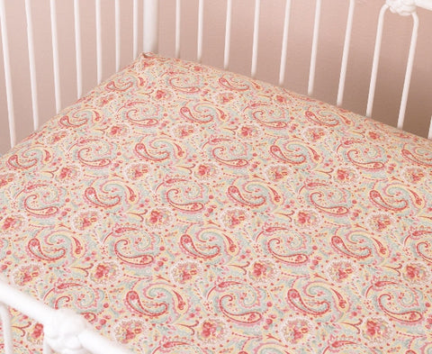 Tea Party Fitted Crib Sheet