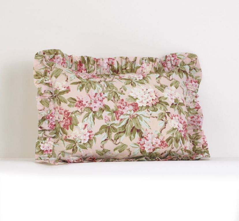 Tea Party Ruffled Pillow Sham