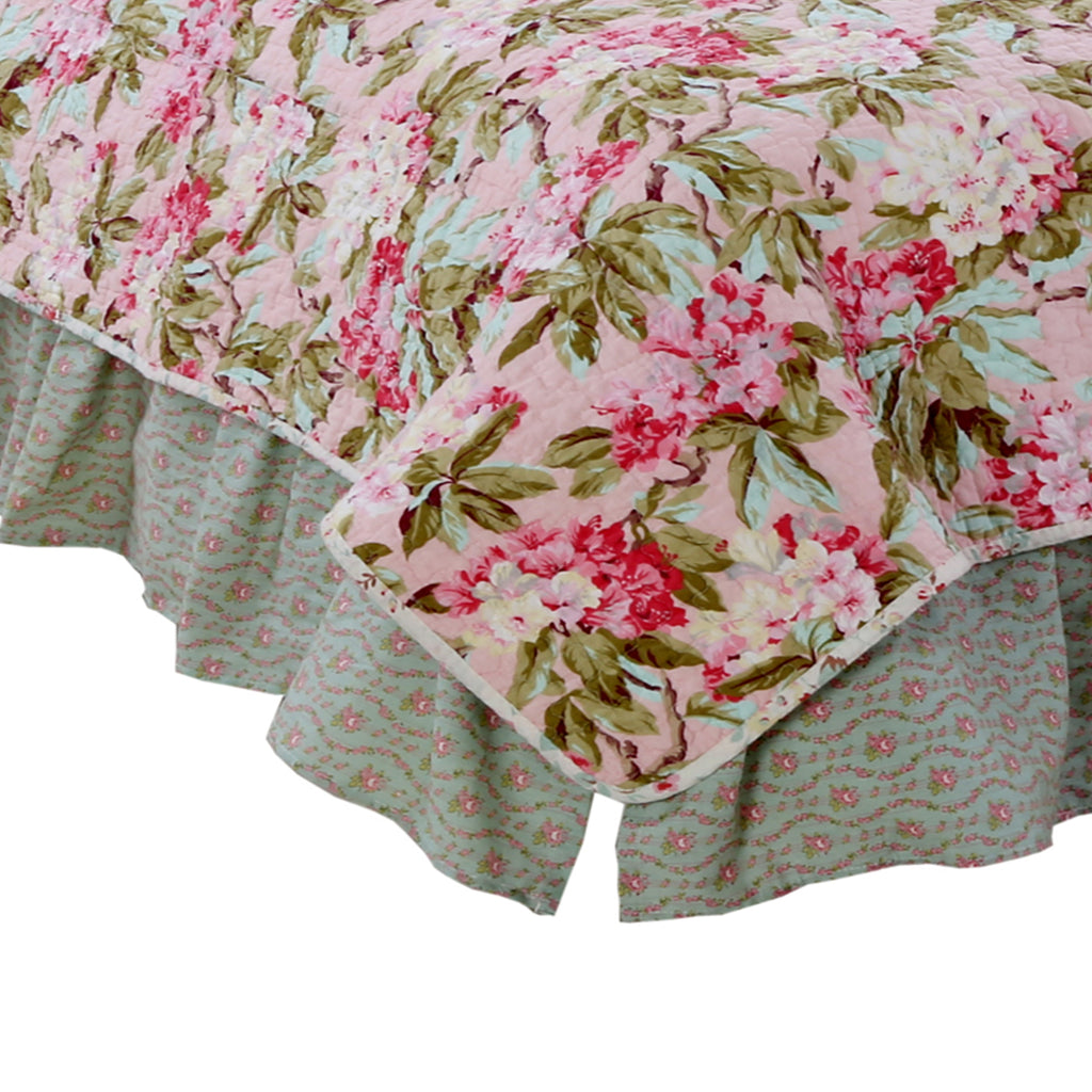 Tea Party Floral Queen Bed Skirt Cotton Tale Designs