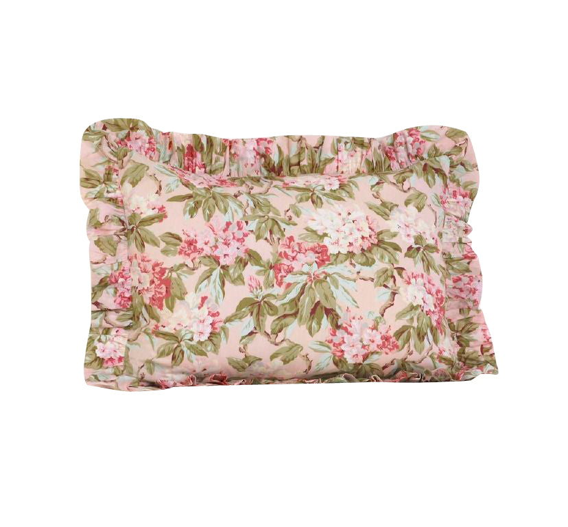 Tea Party Floral Ruffled Pillow Sham