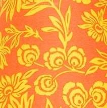 Sumba Orange Floral Fabric - 3yds.