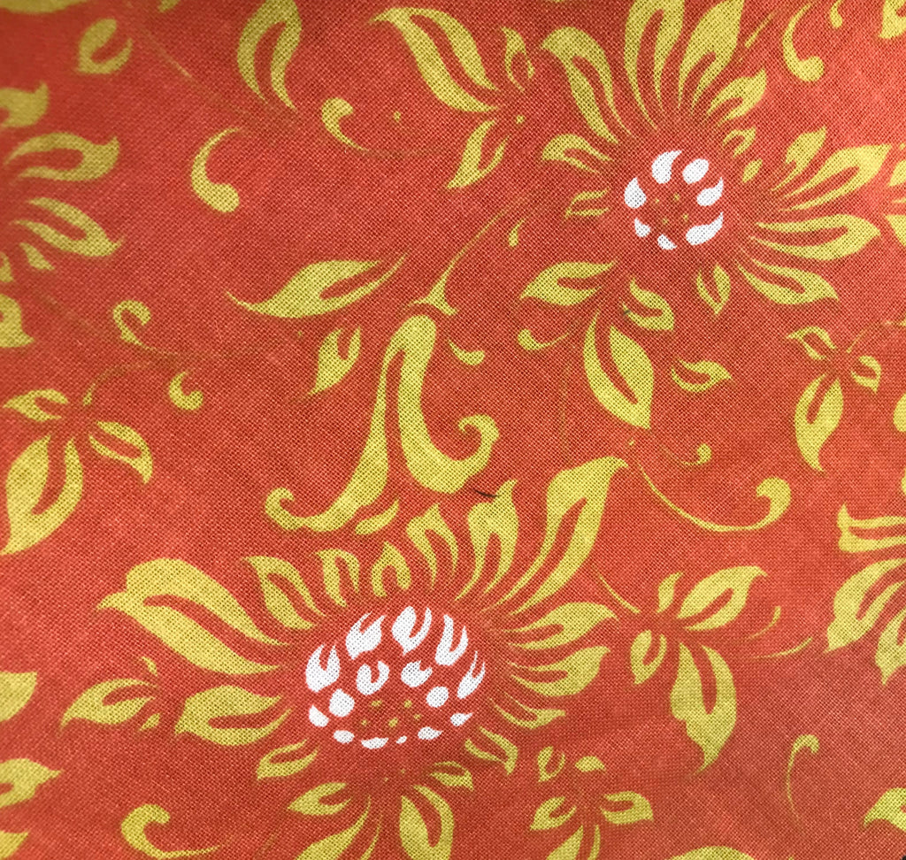 Brown Floral Fabric - 3 yds