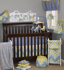 Cotton Tale Designs Zebra Romp 7pc crib bedding set