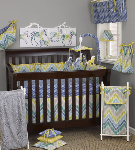 Zebra Romp 8pc Crib Bedding Set