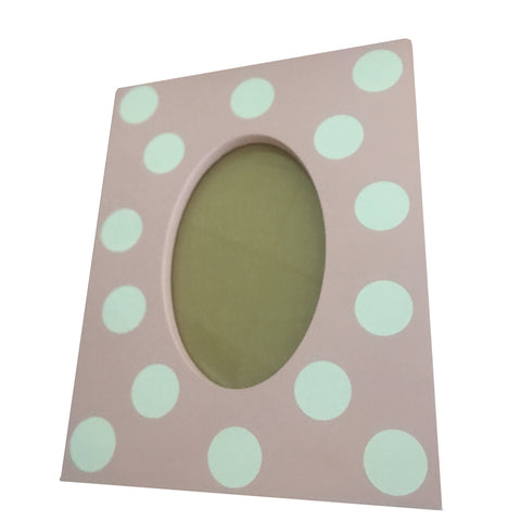 Poppy Pink & White Polka Dot Photo Frame 4x6