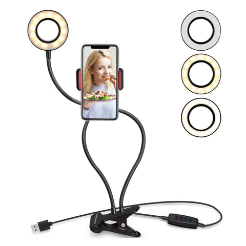 Selfie flash ring light with phone holder - JUSTYOSTORE.COM