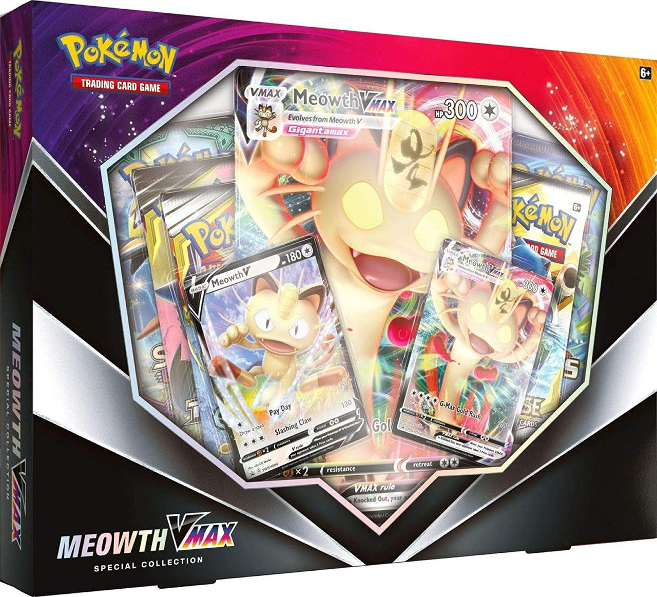 PoKeMoN Meowth VMAX Box | All About Games