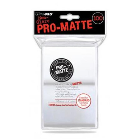 Pro-Matte Standard Deck Protectors: White (100) | All About Games