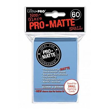 Pro-Matte Small Size Deck Protector: Light Blue | All About Games