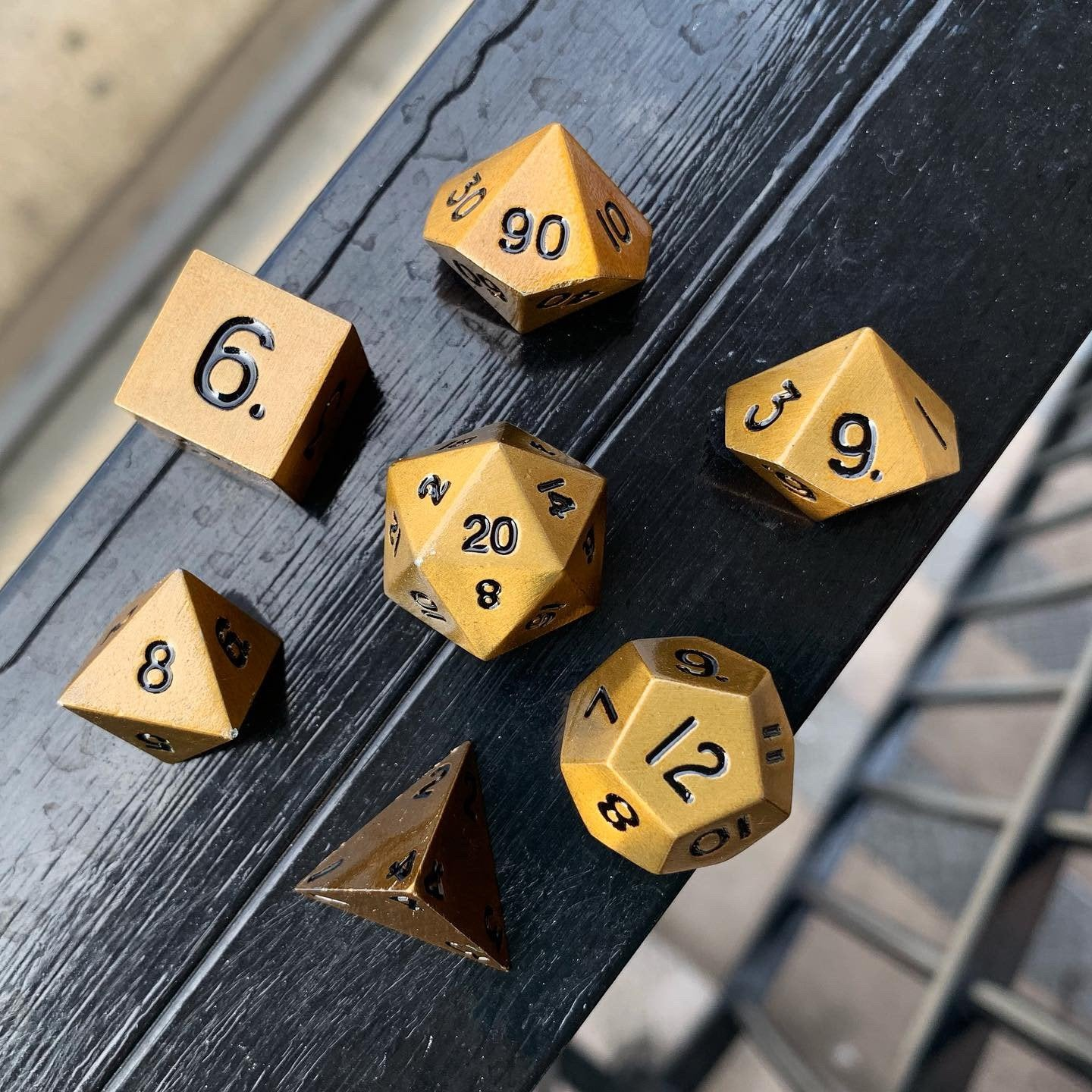 Dragon's Gold  7 Piece Metal Dice Set | All About Games