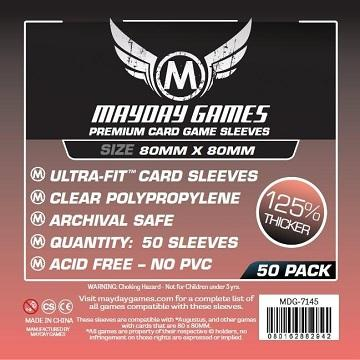 Premium Medium Square Sleeves 50ct (80mm x 80mm) | All About Games