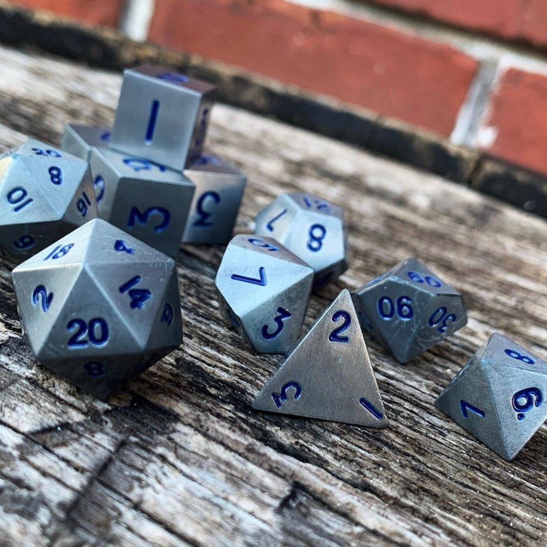Atomic Metal Dice Set | All About Games