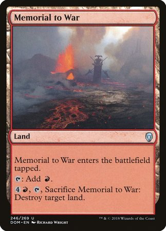 Memorial to War [Dominaria] | All About Games