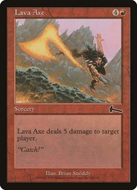 Lava Axe [Urza's Legacy] | All About Games