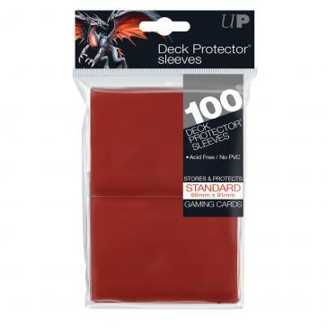 100ct Red Standard Deck Protectors | All About Games