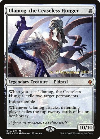Ulamog, the Ceaseless Hunger [Battle for Zendikar Promos] | All About Games