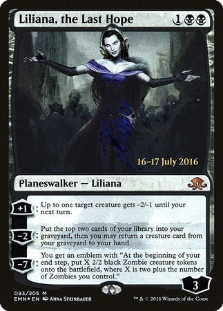 Liliana, the Last Hope [Eldritch Moon Promos] | All About Games