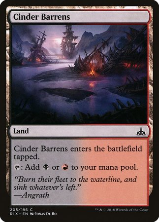 Cinder Barrens [Rivals of Ixalan] | All About Games