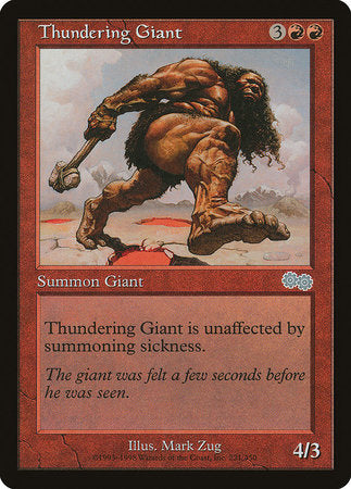 Thundering Giant [Urza's Saga] | All About Games