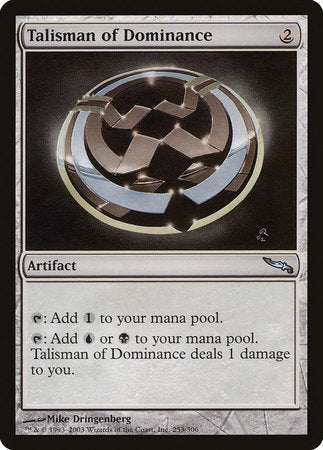Talisman of Dominance [Mirrodin] | All About Games
