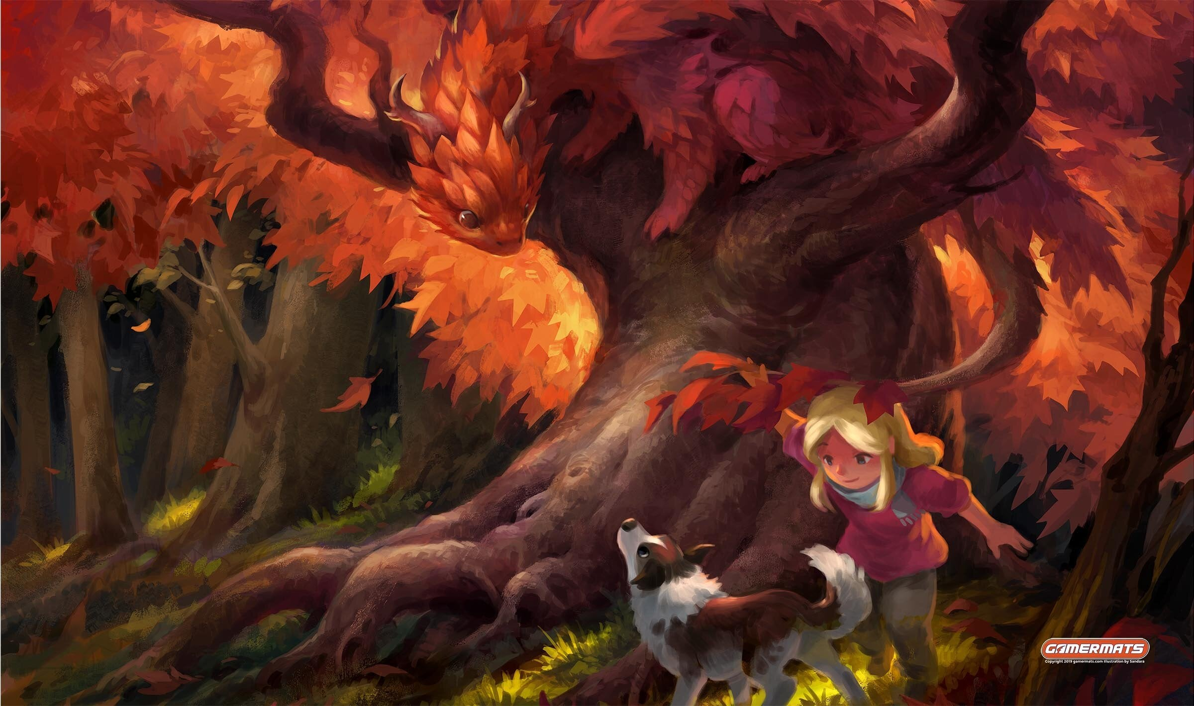 Autumn Dragon Playmat | All About Games