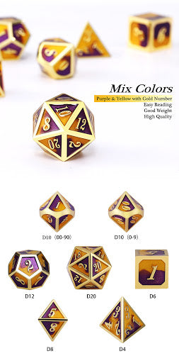 Metal Dice Sets | All About Games