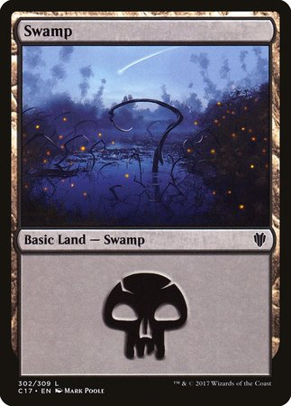Swamp (302) [Commander 2017] | All About Games