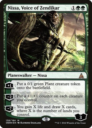 Nissa, Voice of Zendikar [Oath of the Gatewatch Promos] | All About Games