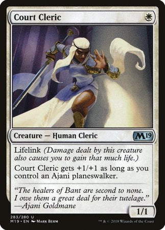 Court Cleric [Core Set 2019] | All About Games