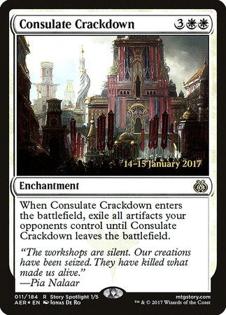 Consulate Crackdown [Aether Revolt Promos] | All About Games