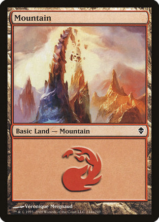 Mountain (244a) [Zendikar] | All About Games