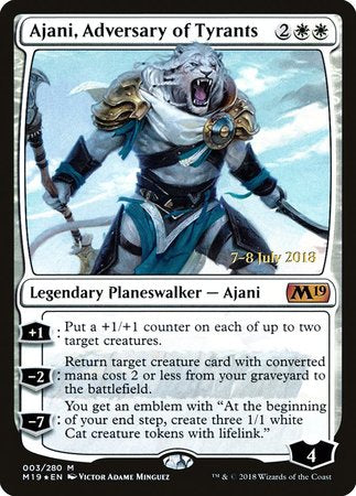 Ajani, Adversary of Tyrants [Core Set 2019 Promos] | All About Games